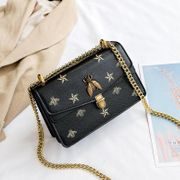 Bee chain bag women's new Korean printing fashion lock crossbody shoulder small square bag NHPB192038
