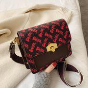 Printed chain shoulder bag women's new winter fashion hit color lock crossbody bag NHPB192068