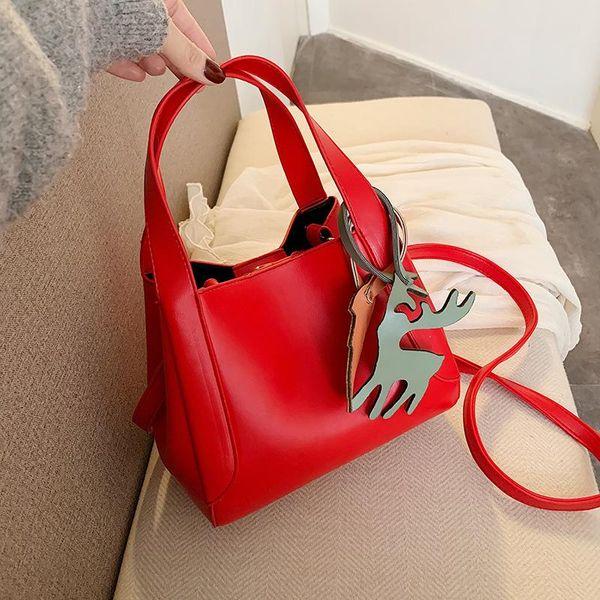 New fashion vegetable basket mini bucket bag female retro solid color portable tote bag NHPB192097