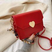 New retro heart buckle ribbon chain handbag women simple fashion shoulder messenger bag NHPB192102