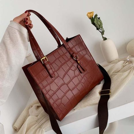 Shoulder bag women's new large-capacity crocodile pattern handbag tote bag NHXC192201's discount tags