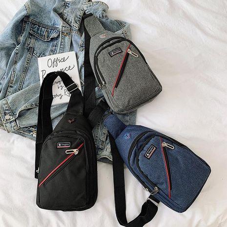 Korean version of the new men's chest bag Messenger bag fashion men and women shoulder bag wholesale NHXC192214's discount tags