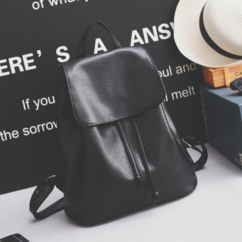 Women's Bag Backpack Midline Washed Leather Backpack New Travel Bag NHXC192218