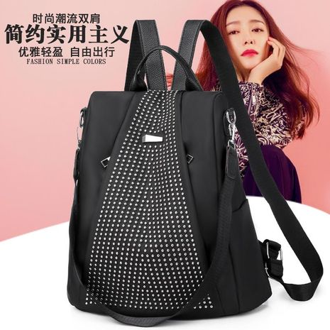 Women's bag new Oxford cloth backpack Korean trend rivet women's backpack casual wild backpack NHXC192224's discount tags