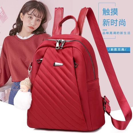 New Women's Bags Simple Fashion Backpack Women's Backpacks Travel Luggage Oxford Cloth Women's Backpacks NHXC192226's discount tags