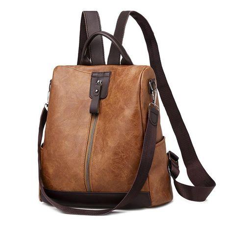New Backpack Women Backpack Retro Soft Leather Shoulder Messenger Bag Short Trip Bag Wholesale NHXC192227's discount tags