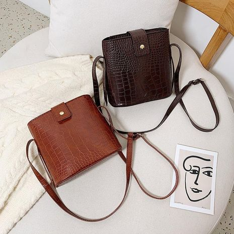 Women's bag new retro wild crocodile pattern shoulder crossbody bag NHXC192228's discount tags
