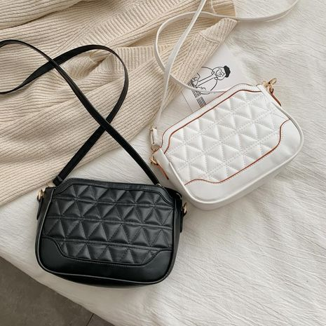 Women's new wave casual shoulder Messenger bag fashion rhombus embroidery small square bag NHXC192233's discount tags