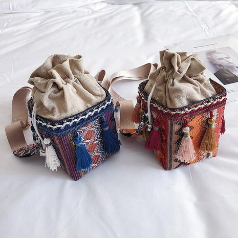 Straw bag women's new beach bag Korean vacation messenger bag woven bag NHXC192256's discount tags