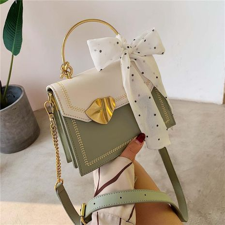 Women's bag new chain shoulder bag portable scarf small square bag texture versatile messenger bag NHXC192257's discount tags