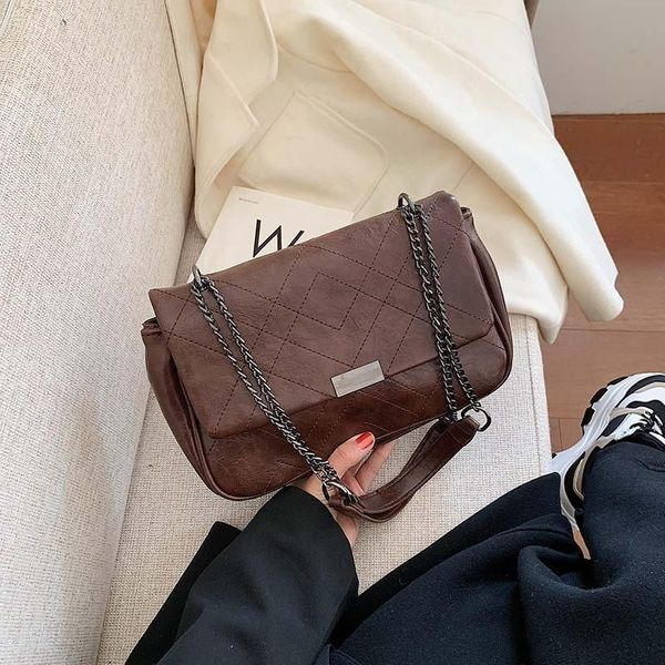 PU bag women's shoulder bag Korean fashion shoulder bag wild chain portable bag NHLD192290