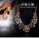 Metal luxury sparkling rich flower temperament necklace earrings NHSC192394