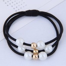 Fashionable wild pearl hair ring headdress simple hair rope rubber band hair accessories rubber band NHSC192384