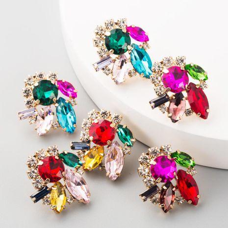 Alloy inlaid diamond earrings female trend retro flower full diamond stud earrings NHLN192302's discount tags