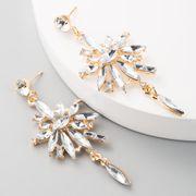 Multi-layer acrylic alloy diamond flower long tassel earrings earrings for women NHLN192303