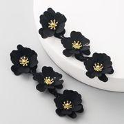 Fashion women earrings flowers fashion long boho temperament earrings NHLN192307