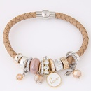 Stylish and simple multielement with leather ladies bracelet NHSC192537