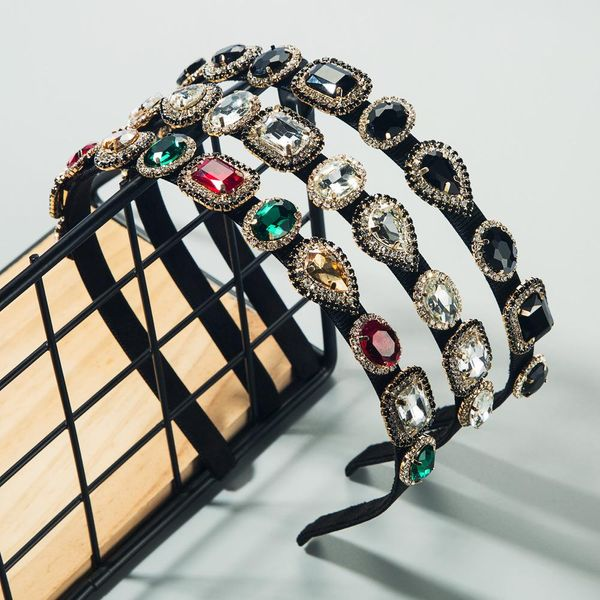 Alloy diamond super flash glass diamond rhinestone headband ladies fashion NHLN192306