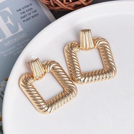 New alloy earrings female creative retro geometric simple earrings wholesale NHJJ192314's discount tags