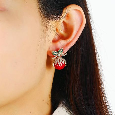 925 silver jewelry new year red earrings festive chinese style mouse earrings women jewelry NHKQ192327's discount tags