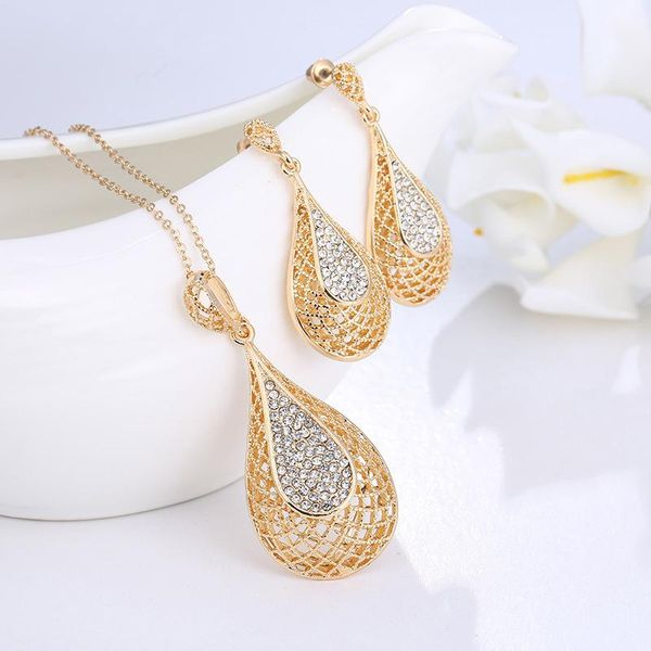 Item wholesale Korean fashion water drop pendant necklace jewelry set ornament NHKQ192332