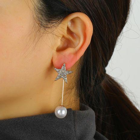 Korean earrings European and American fashion pentagram star studs simple trend star pendant earrings NHKQ192360's discount tags