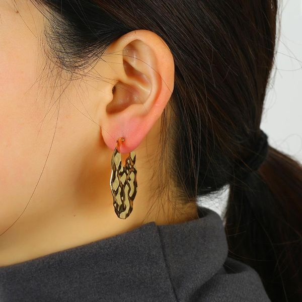 Alloy Earrings Vintage Geometric Studs Wild Bohemian Simple Plating Earrings NHKQ192363