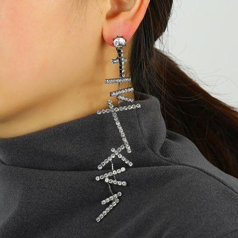 Fashion pendant earrings rhinestone micro stud earrings jewelry long alloy earrings NHKQ192366's discount tags