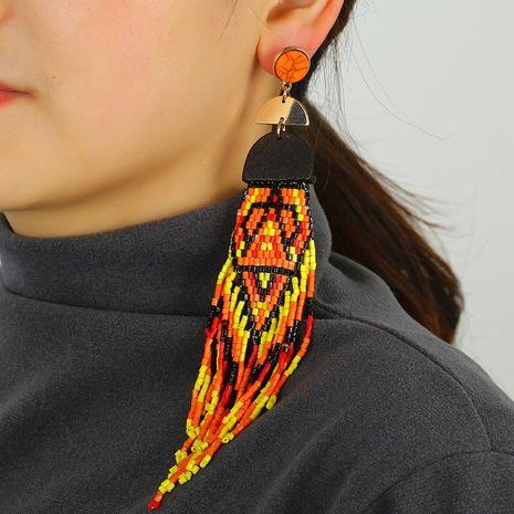 Long Handmade Bead Tassel Earrings Colored Beaded Earrings Jewelry NHKQ192371's discount tags
