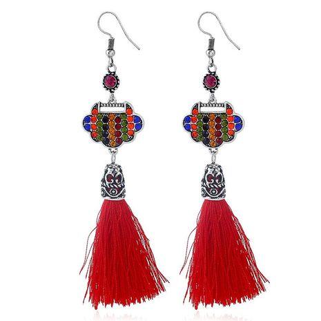 Pop Heart Lock Earrings Vintage Long Tassel Earrings NHKQ192376's discount tags