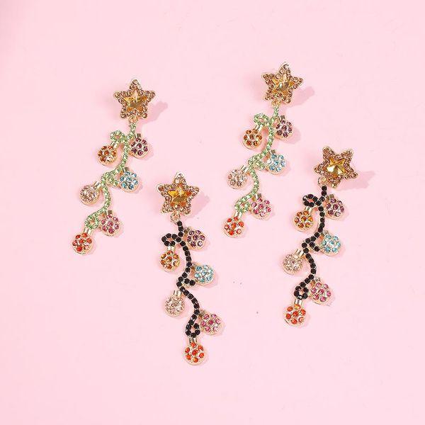 New Baroque Earrings Round Temperament Diamond Earrings NHMD192381