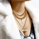 New necklace personality exaggerated LOVE peach heart lock necklace women NHXR192414