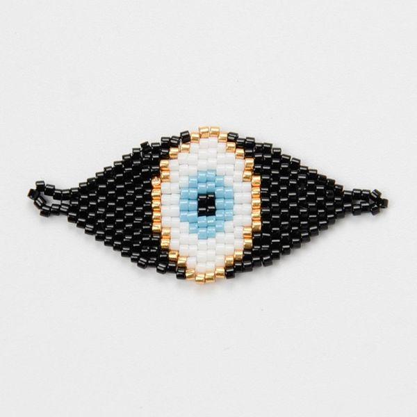 Miyuki Classic Jewelry Accessories Black Turkey Evil Eyes NHGW192489