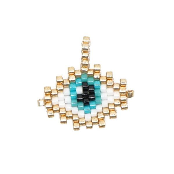 Classic Turkish Eye EVIL EYE Pattern Miyuki Jewelry Accessories Wholesale NHGW192505