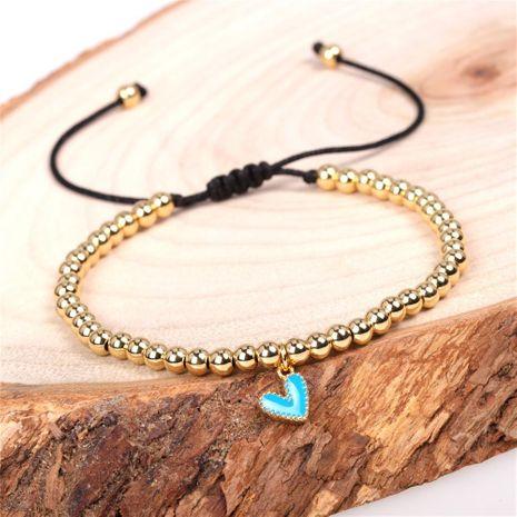 New Bracelet Fashion Nectarine Heart Love Bracelet Copper Plated Ball Bead Bracelet NHPY192532's discount tags