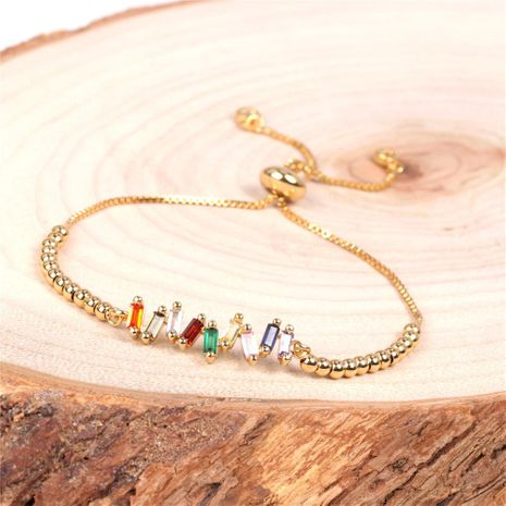 New Fashion Women Fashion Colorful Simple Color Zircon Bracelet Jewelry Wholesale NHPY192535's discount tags