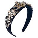 New headband highend womens headband baroque stained glass diamond headband NHLN192567