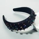 Hot hair accessories hair hoop female inlaid rhinestones oversized wide edge thin sponge baroque retro headband NHLN192570