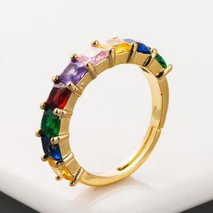 Adjustable ring openings for men and women with colored zircon NHLN192572's discount tags