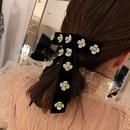 Camellia Velvet Bow Flower Hair Clip Top Clip Sweet Hair Card Girl Hair Accessories NHYQ192585