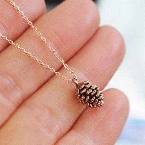 Fashion Pine Nuts Specimen Necklace Fashion Item Wholesale NHDP192607's discount tags