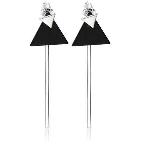 Simple Geometric Double Triangle Flip Stick Earrings NHCU192646's discount tags