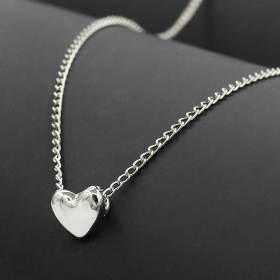 Necklace couple sweet love pendant necklace clavicle chain peach heart necklace wholesale NHCU192648's discount tags