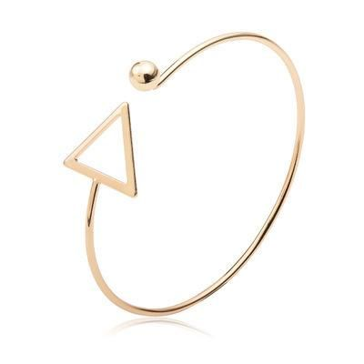 Bangle explosion models geometric hollow triangle bracelet copper gold-plated silver black female bracelet NHCU192657's discount tags