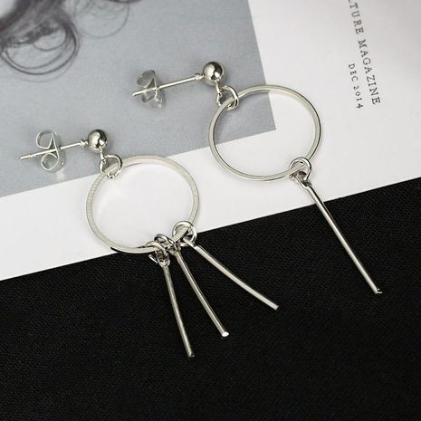 Stylized Circle Flick Tassel Female Wild Irregular Earrings NHCU192663's discount tags