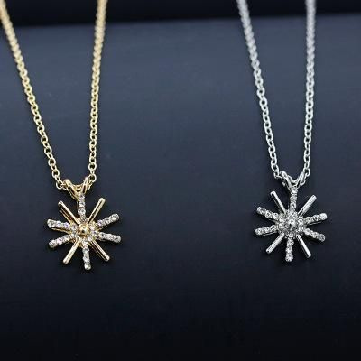 Necklace simple sun flower pendant necklace female clavicle chain small flower flower necklace wholesale NHCU192672's discount tags