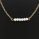 Necklace Wholesale Simple Word Pearl Necklace Lady Short Payment Chain Clavicle Chain Jewelry NHCU192696