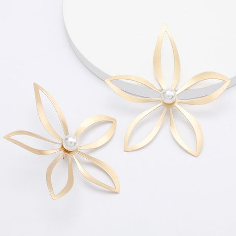 Hollow alloy flower earrings earrings new earrings wholesale NHJE192745's discount tags