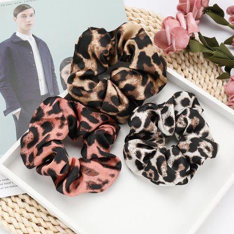 Hair ring sexy leopard fabric large intestine hair bundle hair tie lady head flower headdress NHJE192762's discount tags