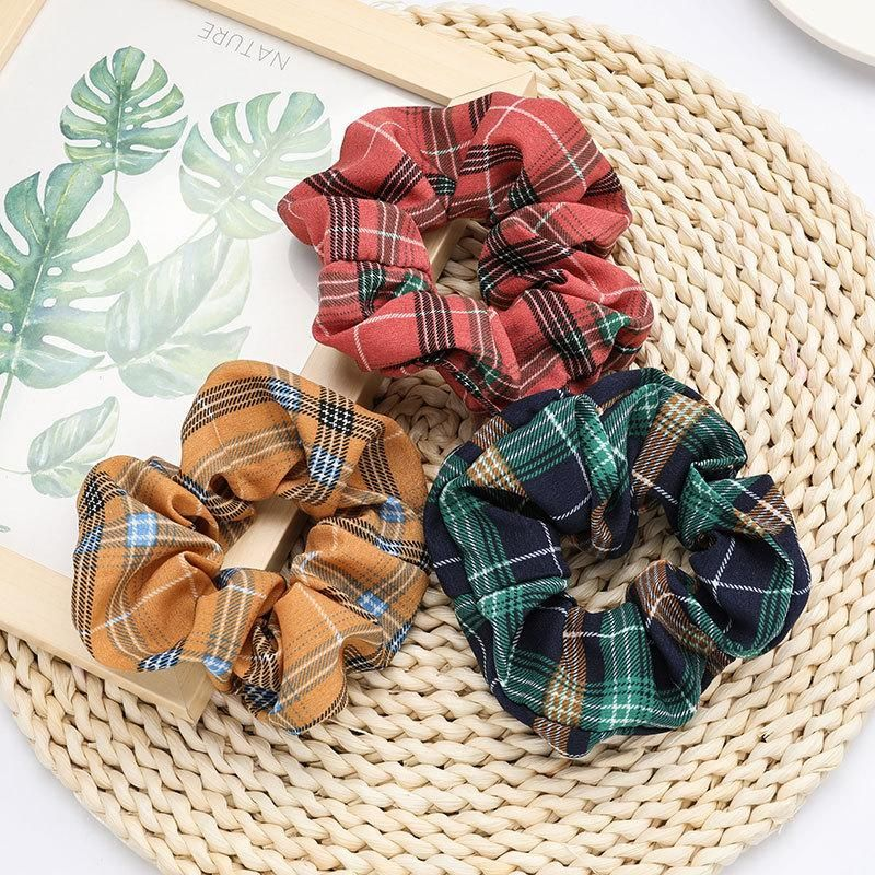Personality striped plaid fabric hair ring female fashion tie dye face wash NHJE192765